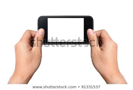 Deux mains câble doigt Photo stock © adrian_n