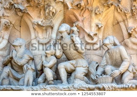 Sculptures on the Sagrada familia church, Barcelona, Spain Stock photo © Elenarts