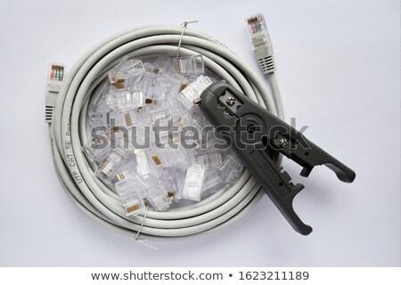 Herramienta Ethernet blanco tecnología industria rojo Foto stock © posterize