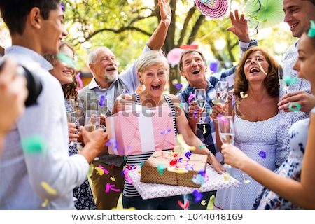Family gathered together for birthday party Stock photo © photography33