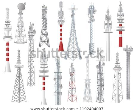 Iletişim kule telefon cep telefonu sanayi mavi gökyüzü Stok fotoğraf © blasbike