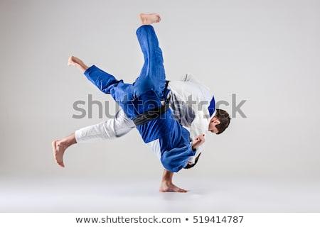 Judo sanat takım portre genç erkek Stok fotoğraf © photography33