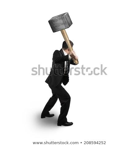 Man holding sledgehammer Stock photo © photography33