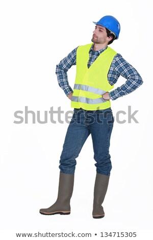 職人 着用 ヘルメット 立って 腕 建設 ストックフォト © photography33