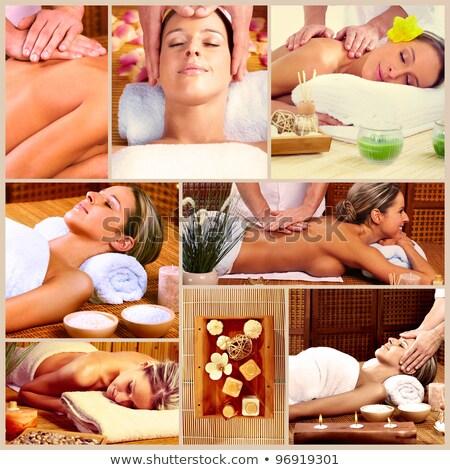 estância · termal · massagem · colagem · belo · mulher · jovem · corpo - foto stock © kurhan