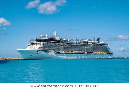 судно Карибы морем Барбадос путешествия транспорт Сток-фото © phbcz