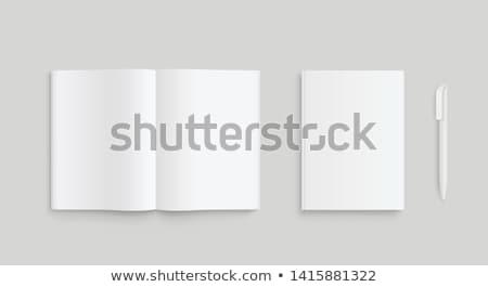 Laptop kinyitott tervező ezüst felső zseb Stock fotó © vankad