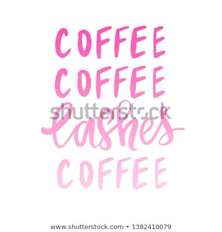 Roze koffiezetapparaat geïsoleerd witte koffie achtergrond Stockfoto © ozaiachin