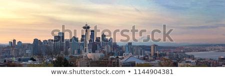 Seattle панорамный маяк холме осень день Сток-фото © cboswell