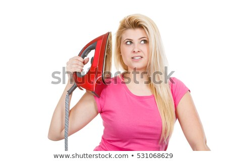 angry woman holding an iron Stock photo © photography33