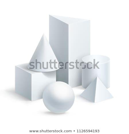 Balls and cube. Stock photo © Leonardi
