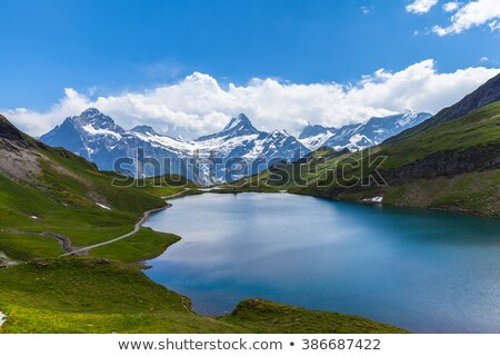 Panorama bleu transparent alpine lac eau Photo stock © macsim