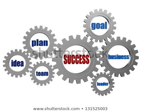 éxito · negocios · palabras · plata · gris · 3D - foto stock © marinini
