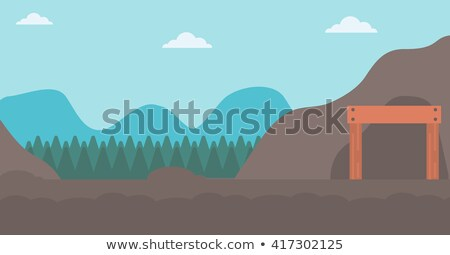 deep mine hole in rock strata Stock photo © clearviewstock
