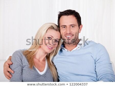 Középkorú férfi kar körül feleség szeretet férfi Stock fotó © photography33