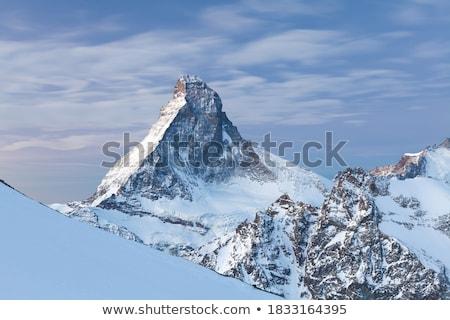 panoráma · híres · víz · tenger · hó · hegy - stock fotó © elxeneize