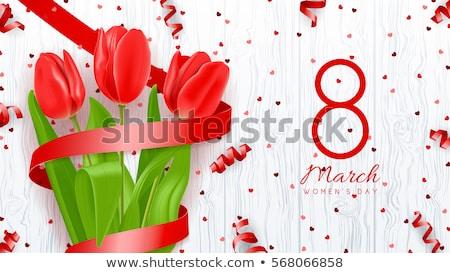 Tulipán piros szatén fehér természet űr Stock fotó © Es75