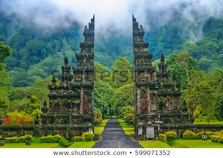 Traditioneel tempel deur bali Indonesië Stockfoto © travelphotography