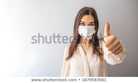 Nő orvosi fotó fehér arc munka Stock fotó © Marfot