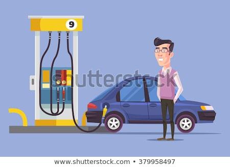 Refuel the car on a gas station Stock photo © Kzenon