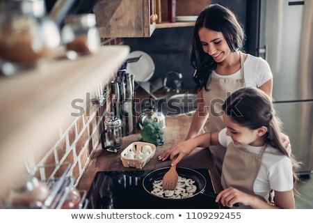 champignons · cuisson · alimentaire · mixte · beurre · sauvage - photo stock © zhekos