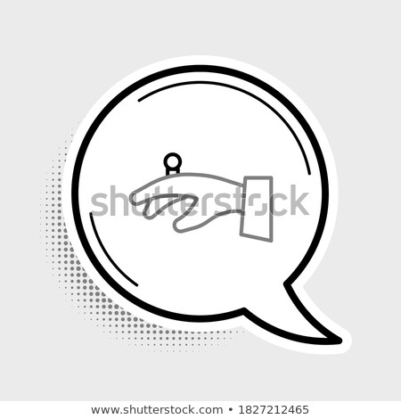 diamond engagement ring with hands vector buttons stock photo © redkoala