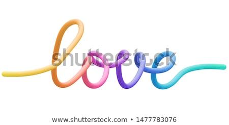 3D szó szeretet ikon fehér 3d illusztráció Stock fotó © Supertrooper