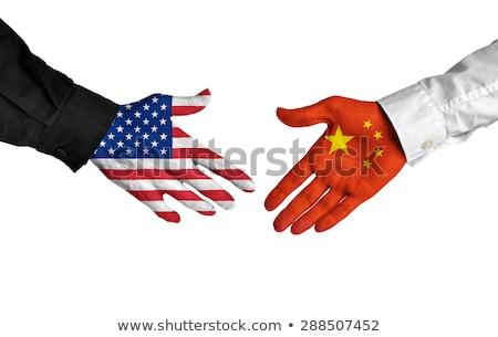 США Китай руками бизнеса рук успех Сток-фото © Zerbor