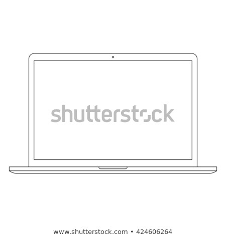 Outlined laptop vector illustration Stock photo © MPFphotography