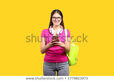 alegre · mulher · compensar · bochechas · encantador - foto stock © amok