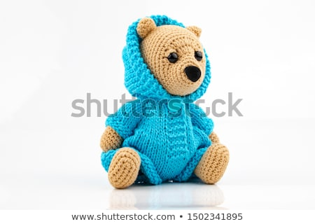 Handicraft colorful  bear on a white background Stock photo © nalinratphi