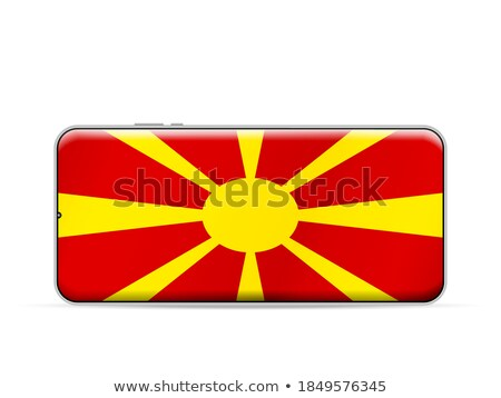 Smartphone vlag Macedonië telefoon telefoon mobiele Stockfoto © vepar5
