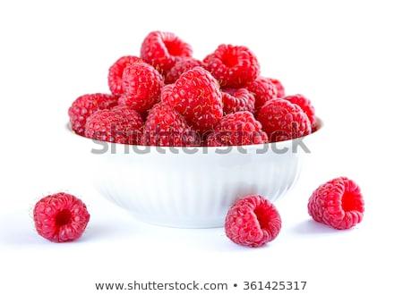 Bowl of raspberries Stock photo © fotogal