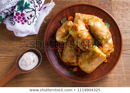cabbage cooked with meat and vegetables Stock photo © M-studio