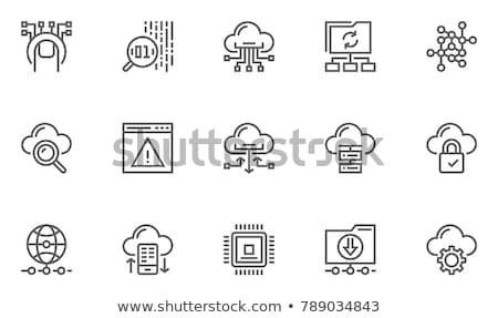 Cloud Line Icons Stock photo © AnatolyM