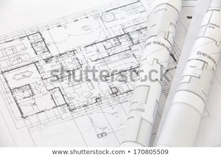 Ház terv ingatlan fehér építkezés építészet Stock fotó © fantazista