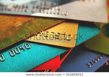 Foto stock: Cartões · de · crédito · foco · raso · foco · negócio