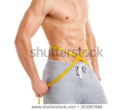 sport man with measuring tape on the white stock photo © vlad_star
