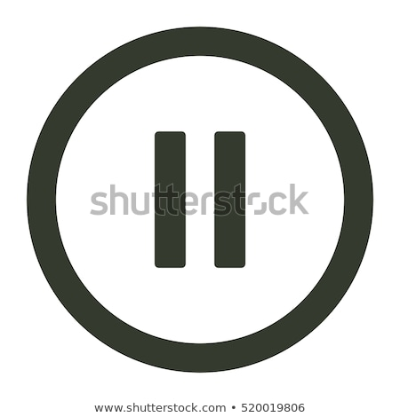 glass icon with pause sign  Stock photo © maximmmmum
