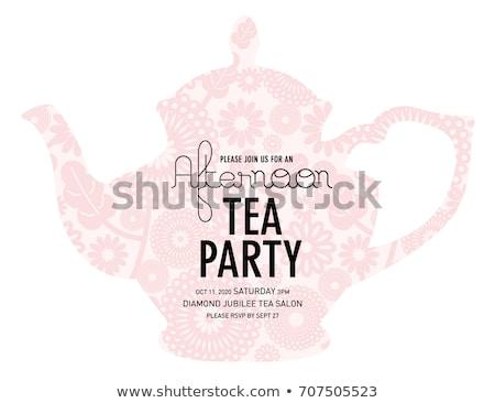 tea party invitation template stock photo © vectorikart