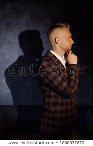 Feliz moda homem um mão Foto stock © feedough