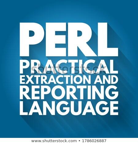 perl coding Stock photo © georgejmclittle