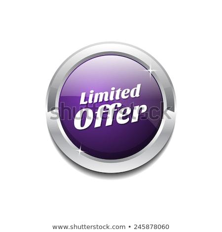 время предлагать Purple вектор икона кнопки интернет Сток-фото © rizwanali3d