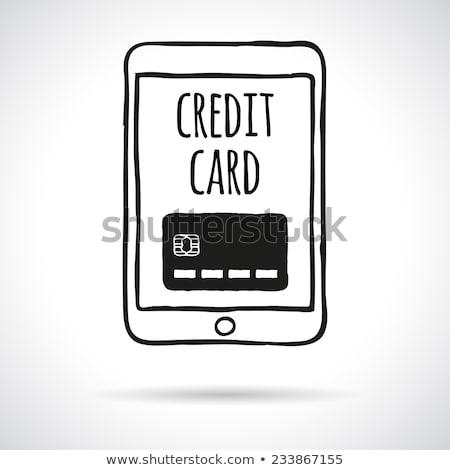 Firka érintés hitelkártya kréta tábla hatás Stock fotó © pakete