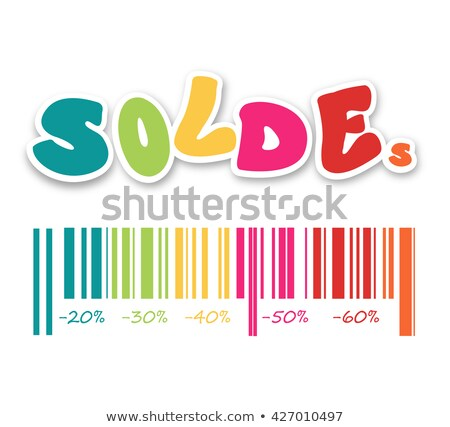 barcode with the word sale and discounts as percentage vector il Stock photo © konturvid
