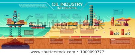 Olie gas iconen communie business Stockfoto © ConceptCafe