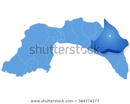 Map of Antalya - Gundogmus is pulled out Stock photo © Istanbul2009