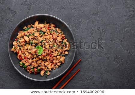 Minced meat stir fry Stock photo © Digifoodstock