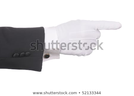 Butler's gloved hand pointing  Stock photo © cherezoff