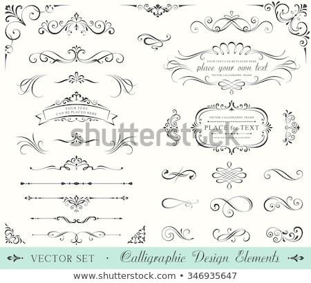 Decoratie pagina weinig decoraties Stockfoto © blackmoon979